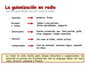 Ejemplos de guion de radio