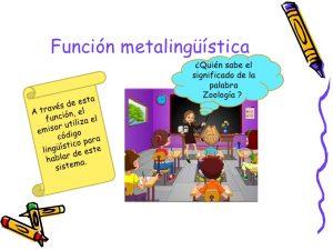 Ejemplos de funcion metalinguistica