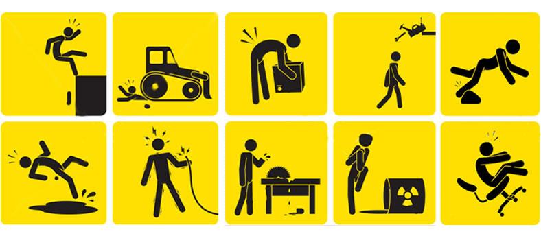 Ejemplos de accidentes de trabajo